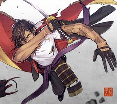 Touken Ranbu, Ookurikara, Anime Boys, Samurai, very beautiful,