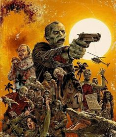 Romero Movies and TV Shows on DVD and Blu-ray. Zombie Movies, Scary Movies, Awesome Movies, Horror Show, Horror Art, Horror Icons, Horror Movie Posters, Horror Movies, Funny Horror