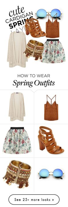 """Spring Layers Outfit+Cardigan"" by fallinapanic on Polyvore featuring Raoul, Violeta by Mango, Bamboo, cutecardigan and springlayers"