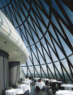 Swiss Re Headquarters, 30 St Mary Axe (The Gherkin) (London, UK 1997-2004)   Foster + Partners @fosterpartners