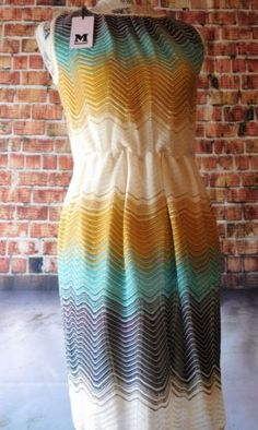 NWT-Super-MISSONI-Designer-Dress-in-Hot-New-Colors-Made-in-Italy-Size-44