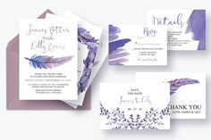 Mythical Feathers Wedding Suite by Knotted Design on @creativemarket. Price $20
