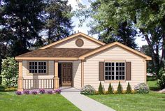 House Plan 94487 | Country Plan with 1273 Sq. Ft., 3 Bedrooms, 2 Bathrooms, 2 Car Garage