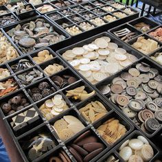 Buttons for sale at Antique Fair, Round Top, Texas