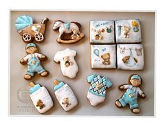 Set of Newborn Baby Boy Cookies