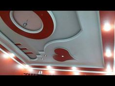 Latest 50 New Gypsum False Ceiling Designs 2017 Ceiling Decorations Living and Bedroom - YouTube Best False Ceiling Designs, False Ceiling For Hall, Gypsum Ceiling Design, House Ceiling Design, False Ceiling Living Room, Ceiling Design Living Room, Bedroom False Ceiling Design, Home Ceiling, Modern Ceiling