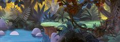 A real treat today - digitally reconstructed background art from Disney's PETER PAN!     This artwork is a visual feast - and screams the ...