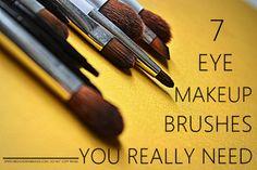 7 Must Have Basic Essential angled flat fluffy crease blending smudger pencil Eyeshadow Eyeliner Makeup Brushes Indian beauty Blog