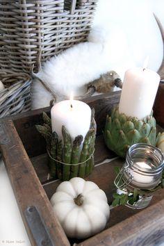 Centros de mesa con verduras