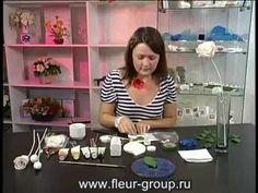 FLEUR. Керамическая флористика.Роза.mp4 - YouTube