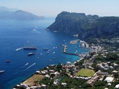 Capri Island Aerial view