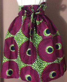 Esty Ankara jupe africaine avec deux poche et une par Holydesigns