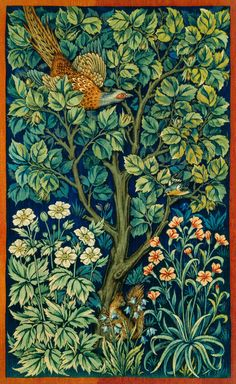 Cock Pheasant (1916) by William Morris and John Henry Dearle. Original from The Birmingham Museum. Digitally enhanced by rawpixel. | free image by rawpixel.com William Morris Wallpaper, William Morris Art, Morris Wallpapers, William Morris Patterns, Birmingham Museum, Free Illustrations, Botanical Illustration, Garden Illustration, Arts And Crafts Movement