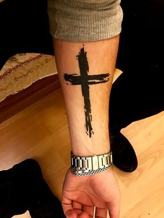 37 simple religious sleeve tattoos ideas for guys - tile pendant - ins . - 37 Simple Religious Sleeve Tattoos Ideas For Guys – TILE PENDANTS – Simple Religious Sleeve Tat - Simple Cross Tattoo, Cross Tattoo For Men, Cross Tattoo Designs, Tattoo Sleeve Designs, Tattoo Designs Men, Tattoo For Man, Cross Tattoo On Wrist, Design Tattoo, Trendy Tattoos