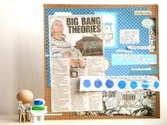 Julie's lovely page of brightest blues for the May edition of Storytelling Sunday