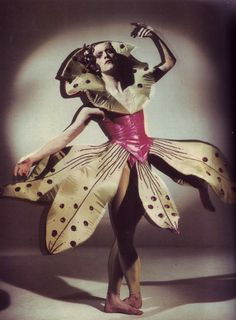 awesome costume      Stephen Calloway, 1980s        via indecoroustaste.com