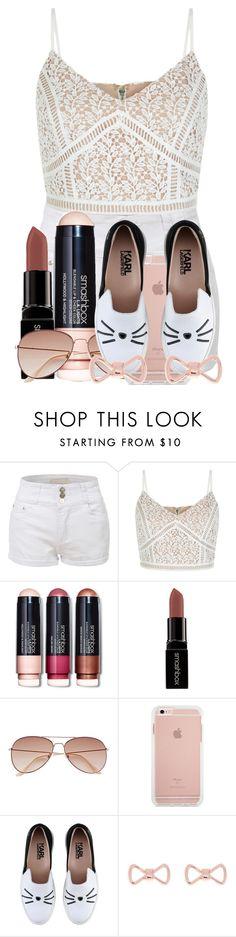 """""""Untitled #192"""" by potterheadpatronus on Polyvore featuring LE3NO, Smashbox, H&M, Karl Lagerfeld and Ted Baker"""