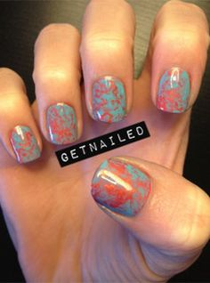 How to easily do your own marble nails