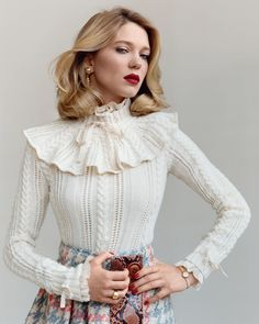 """therubyrussian: """"Léa Seydoux by Paul Wetherell for Vanity Fair France via Les Beehive """""""