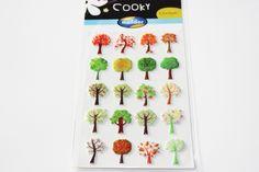 Sticker  Cooky Bäume von Perlenblitz auf DaWanda.com