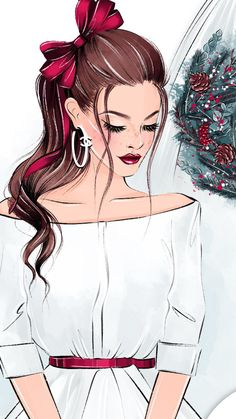 Cute Cartoon Girl, Anime Girl Cute, Anime Art Girl, Cartoon Art, Beautiful Girl Drawing, Cute Girl Drawing, Girly Drawings, Pencil Art Drawings, Fashion Drawing Dresses