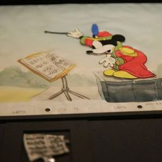 Original #mickeymouse cell from the @disney #sillysymphonies at @wdfmuseum in #SanFrancisco #waltagram #mickey