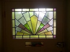 Reference Number: Art deco stained glass-084