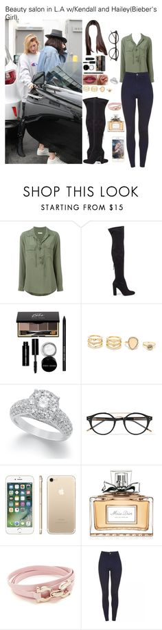 """Beauty salon in L.A w/Kendall and Hailey(Bieber's Girl)."" by tatabranquinha ❤ liked on Polyvore featuring Equipment, Steve Madden, Bobbi Brown Cosmetics, LULUS, Bottega Veneta, Christian Dior, Salvatore Ferragamo, JustinBieber, kendalljenner and haileybaldwin"