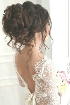 30 elegant wedding hairstyles for stylish brides ❤ More information: www. - 30 elegant wedding hairstyles for stylish brides ❤ More information: www.wed …… 30 elegant wedding hairstyles for stylish brides ❤ More information: www. Wavy Wedding Hair, Wedding Hairstyles For Long Hair, Elegant Hairstyles, Wedding Hair And Makeup, Bride Hairstyles, Bridal Hair, Wavy Hairstyles, Updo Hairstyle, Hairstyle Wedding