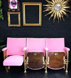 Theatre /stadium seats upholstered in pink! Lovely Theatre /stadium seats upholstered in pink! Lovely Theatre /stadium seats upholstered in pink! Lovely Theatre /stadium seats upholstered in pink! Salon Interior Design, Beauty Salon Interior, Interior Design Photos, Home Interior, Home Design, Interior Inspiration, Interior Decorating, Colorful Interior Design, Kochi