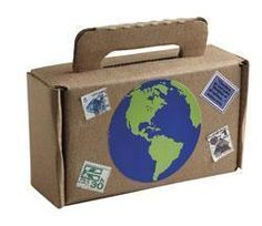 """Are you ready to be a disciple of Christ? Pack your bags and let's start sharing the Good News! Includes cardboard suitcases, postage stamps, preprinted verses and Earth shapes and glue stick. 7 1/4"""" x 2 1/2"""" x 4""""."""