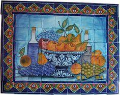 Fruit Bowl Bodegon. Clay Talavera Tile Mural