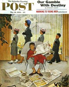 Norman Rockwell, Sunday Morning Published May 16, 1959 on ArtStack #norman-rockwell-1894-1978 #art