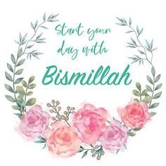Start your day with Bismillah – IslamiCity Bazar Bismillah Calligraphy, Islamic Art Calligraphy, Caligraphy, Quran Wallpaper, Islamic Quotes Wallpaper, Best Islamic Quotes, Islamic Inspirational Quotes, Islamic Wall Decor, Islamic Posters
