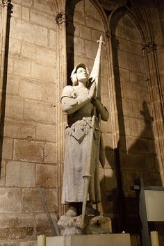 The statue of Saint Joan of Arc in Notre Dame Cathedral, Paris, France. I have been here!