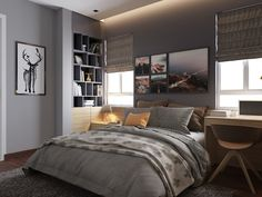 These 9 Grey Bedrooms are perfect examples of soothing dark interiors