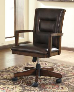 Priscilla Mid Back Office Chair with Arms