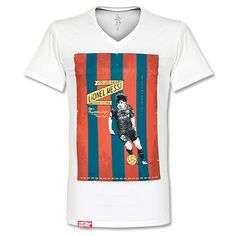 FootballCulture Messi V-Neck T-Shirt