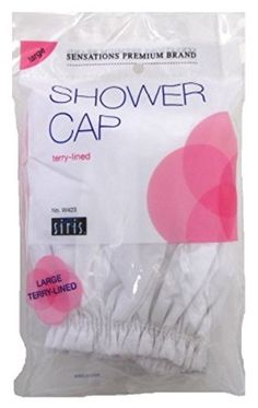 Siris Shower Cap Large Terry Lined Vinyl Assorted Colors 3 Pack