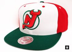 Classic Red N Green New Jersey Devils as seen on Universal Article - Fitted Caps and Headwear Blog New Jersey Devils, Fitted Caps, Lululemon Logo, Caps Hats, Logos, Classic, Red, Derby, Logo