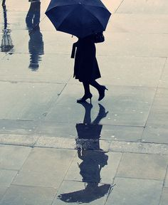 Paris photo - Rain in Paris - vintage - Woman with umbrella - fine art photograph - street photography