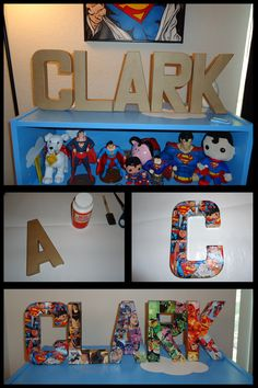Nerdy Family: Comic Book Letters. (Could be themed for any space)