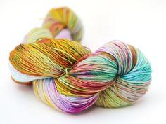Ambrosia hand dyed cashmere merino sock yarn – Blissful Knits