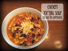21 day fix chicken tortilla soup