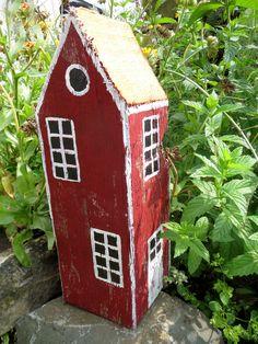 Dieses kleine Schwedendorf vor einigen Tagen.     Von einer Freundin bekam ich Holzrohlinge   aus einem 100 Jahre alten Holzbalken g...