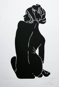 Buy Helene - Limited Edition 2 of 10, a Linocuts on Paper by A Weyer from Germany. It portrays: Nude, relevant to: beach, printmaking, realism, she, woman, black and white , linocut, figurativ, handmade, minimalism, modern, nude It was the gracile nude of a young woman on the beach Gollwitz, isle Poel/ Baltic Sea, that inspired me to this work. This is an original unframed linocut print. It is made by hand, not a digital print or a photo copy. Hand carved and pulled from the block. Each...
