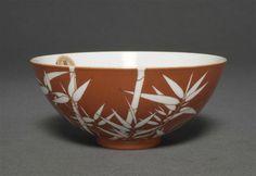 Bol à décor de bambou, règne de Qianlong (1736-1795), porcelaine, fours de…