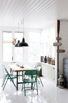Norwegian House with Rustic industrial interiors