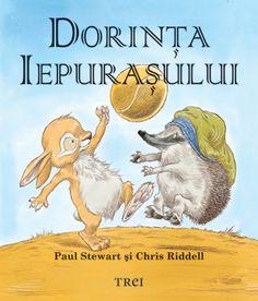 Dorinţa iepuraşului - Paul Stewart -  Varsta: 2 ani +. Ariciul şi Iepuraşul sunt cei mai buni prieteni din lume, chiar dacă unul doarme numai ziua, iar celălalt se duce la culcare numai noaptea. Ariciul ştie că nu au cum să se joace împreună după pofta inimii – căci, iată, se-ntâlnesc doar pe la răsărit şi-n înserat –, dar Iepuraşul vrea aşa de tare să-şi petreacă o zi întreagă, tot într-o joacă, alături de prietenul lui, încât îşi pune o dorinţă... Paul Stewart, Winnie The Pooh, Disney Characters, Fictional Characters, Books, Pune, Movies, Libros, Book