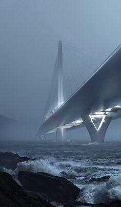 Danjiang Bridge by Zaha Hadid Architects in Taipei, Taiwan